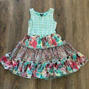 Fun floral twirling dress